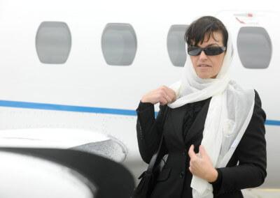 Prywatny samolot w Pyrzowicach