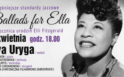 """Koncert """"Ballads for Ella"""" w Domu Muzyki i Tańca w Zabrzu"""